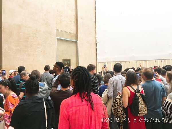 ルーブル美術館 モナリザ混雑の様子