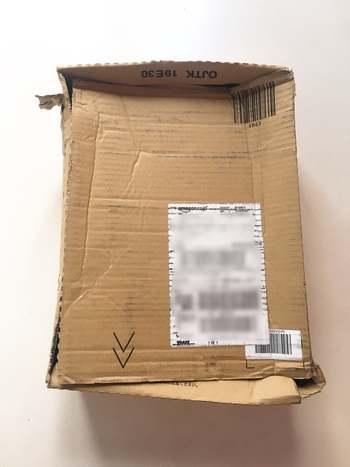 日本のアマゾンから届いた箱