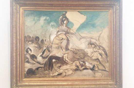 民衆を導く自由の女神デッサン画