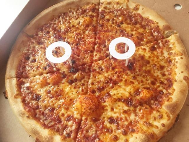 フランス・ピザハット2回目の注文ピザ