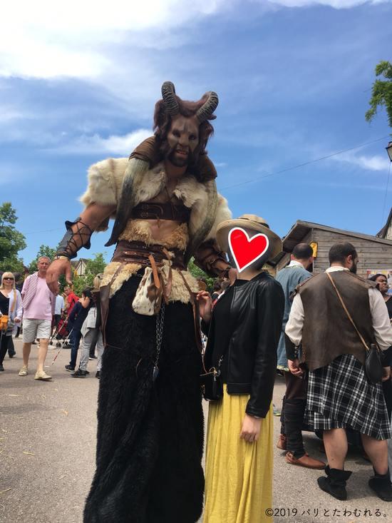プロヴァン中世祭りのモンスター