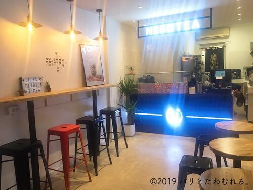 パリ6区タピオカ専門店Nekotea内観