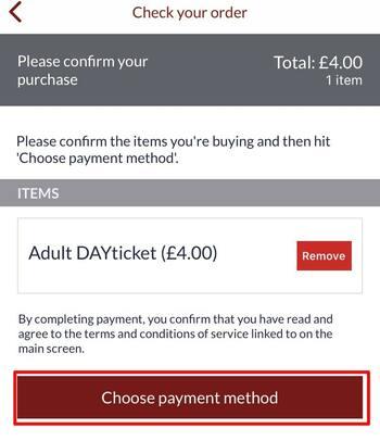 アプリでチケット購入方法9