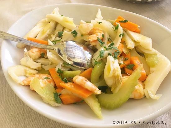 Trattoria Galleria Sciarraの海鮮サラダ