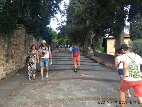 ミケランジェロの丘までの階段
