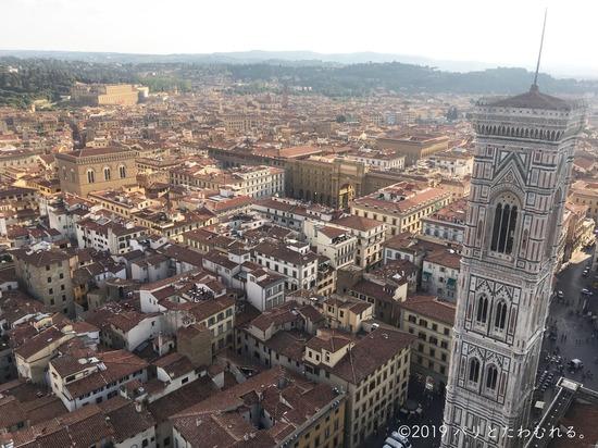 ドゥオモのクーポラからみたフィレンツェの街並み