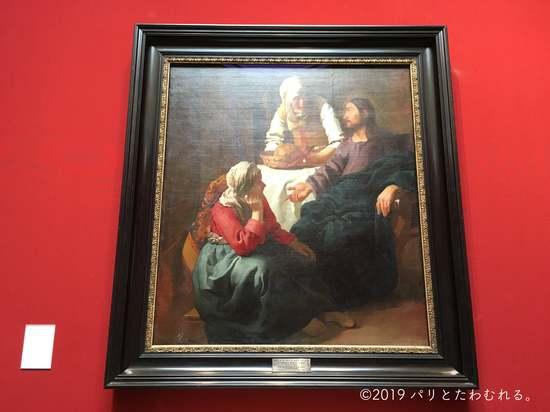 ヨハネス・フェルメール「マルタとマリアの家のキリスト」