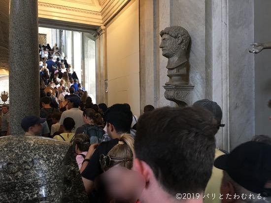 バチカン美術館の人混み