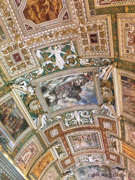地図の間の天井画