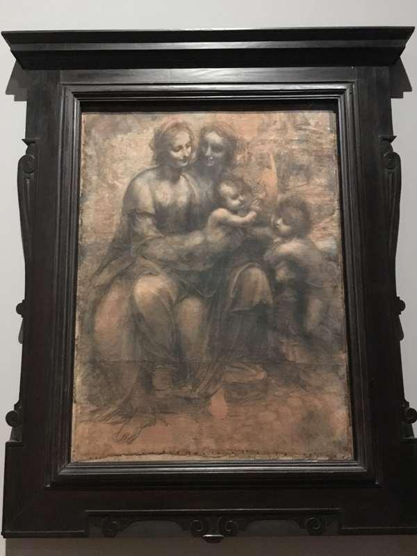 レオナルド・ダ・ヴィンチ展「聖アンナと聖母子と幼児聖ヨハネ」